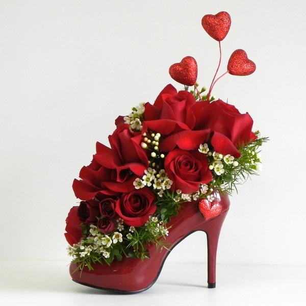 Valentines Day Shoe Wild Orchid Des Moines Florist Des Moines
