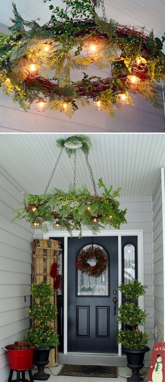 hanging wreaths and bird cage ideas. Black Bedroom Furniture Sets. Home Design Ideas
